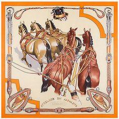 e57f77f2db962 Details about Women s Orange Horses Head Shawl Scarves Fashion Silk Large Square  Scarf 51