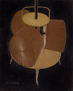 Marcel DUCHAMP. Broyeuse de chocolat, numéro 1, 1913, (réalisé à Neuilly, France),68 x 64.8 Philadelphie, The Philadelphia Museum of Art