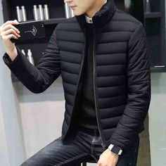 Jackets and Coats 2018 Casual Winter Jackets Men Mens Thick Parka Men Outwear Plus Size Jacket Male Clothing Clothes Tops Rugged Style, Style Men, Men's Style, Fashion Night, Winter Fashion, Style Brut, Outfit Combinations, Men Casual, Casual Winter