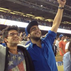 Ignazio & Piero of @Il Volo singing Take Me Out To The Ball Game at their first Dodgers game in LA. I <3 you, guys! #dodgers #ilvolo