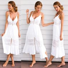 f3a34bd0bf0 Vintage Boho Dress Bohemian Fashion Womens Summer Autumn Evening Party  Vestidos De Festa Beach Floral Dress
