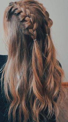 Medium Hair Styles, Curly Hair Styles, Hair Medium, Hair Simple Styles, Hair Braiding Styles, Hair Down Styles, Braids For Medium Length Hair, Dreadlock Styles, Bun Styles
