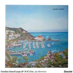 "Catalina Island Large (6"" X 6"") Ceramic Photo Tile"