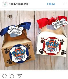 Paw patrol treat box idea