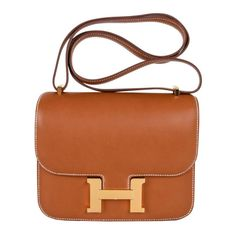 7823cab96abc Hermes Constance Bag 18 Rare Fauve Barenia Leather Gold Hardware