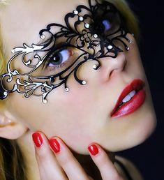 Beautiful Model with Elegant Mask, Good Photographic Work