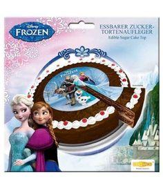 DekoBack Essbare Tortenaufleger Disney Frozen Ø 16cm Deko Geburtstag Eiskönigin  - 2-flowerpower