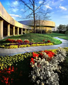 Exploring 12 Monumental U.S. Presidential Libraries. Carter Presidential Center.   The modernist rotunda of the Jimmy Carter Presidential Library and Museum, designed by architecture firms Jova/Daniels/Busby of Atlanta and Lawton, Umemura & Yamamoto of Honolulu.