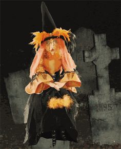 Lucille Witch : Stuffed Fabric Witch Doll : Joe Spencer