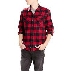 San Francisco 49ers Levi s Barstow Western Long Sleeve Button-Up Shirt -  Scarlet 8fbcbb09313