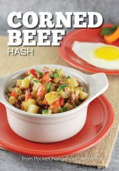This Corned Beef Hash is the perfect recipe to use up any leftover Corned Beef! Serve for breakfast, lunch or dinner!
