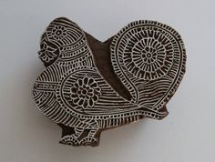Bird Stamp - Indian Wood Block Printing Stamp - Handcarved Pigion / Dove