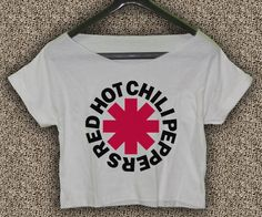 Red+Hot+Chili+Peppers+T-shirt+Red+Hot+Chili+Peppers+Crop+Top+Logo+RHCP+02