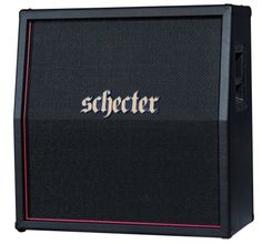 Schecter Hellraiser Stage 4x12 Guitar Speaker Cabinet: Your tone will raise hell! Loaded with 4 Celestion Vintage 30s, this closed-back cabinet produces powerful and articulate sound -- cranked up or turned down