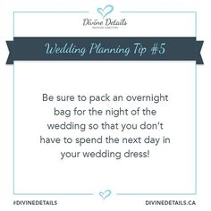 "For more Wedding planning tips, check out the Divine Details planner and start managing your Customizable Wedding Checklist <span class=""emoji-outer emoji-sizer""><span class=""emoji-inner"" style=""background: url(chrome-extension://immhpnclomdloikkpcefncmfgjbkojmh/emoji-data/sheet_apple_64.png);background-position:47.5% 82.5%;background-size:4100%"" title=""ring""></span></span> . . . #WeddingPlanning #WeddingWednesday #WeddingTips #CanadianBrides #Brides #Ontario"