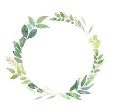 Watercolor Clipart, Wreath Watercolor, Watercolor Flowers, Watercolor Paintings, Watercolor Wedding, Leaf Clipart, Frame Clipart, Leaf Border, Floral Border