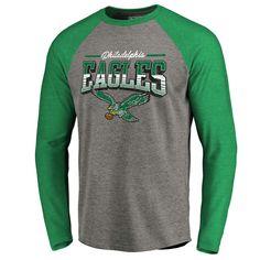 8b7e1925df0 Philadelphia Eagles NFL Pro Line by Fanatics Branded Season Ticket Long  Sleeve Raglan Tri-Blend T-Shirt – Kelly Green