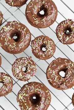 I NEED TO GET THIS #COOKBOOK. #christmaspresent, anyone? ;) Triple Chocolate Vegan GF Doughnuts from Baked Doughnuts for Everyone via Oh She Glows