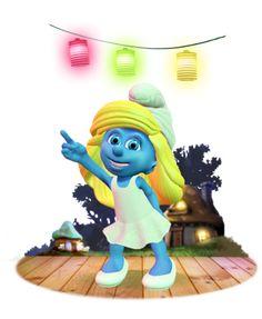 Dançar e cantar suas noites com Dancing Smurfette.