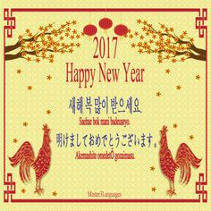 127 best master3languages images on pinterest korean language happy new year in korean japanese master3languages hny hny2017 m4hsunfo