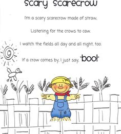 "I love this poem because it shows thing aren't as scary as they seem. Kids are going to be scared of some October things, especially the younger crowd (K-1). Great emphasis on our theme. Awesome poem to share with the Kindergarten level. Can be used as finger play to the tune of ""I'm a little teapot"". Teacher can create own movements."
