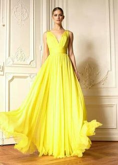 Cheap prom dresses, Buy Quality prom dresses plus directly from China prom dresses style Suppliers: Vestidos New Style Luxury V-neck A-Line Prom Dress Floor Length Sleeveless Evening Dresses Empire Waist Formal Dress Plus Size Yellow Evening Dresses, Evening Gowns, Yellow Gown, Yellow Maxi, Long Yellow Dress, Dress Black, Bridesmaid Dresses, Prom Dresses, Formal Dresses