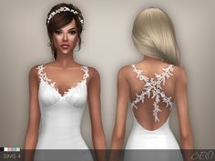 Robe de mariée - Claire pour Les Sims 4 par BEO - the sims 4 - Wedding Dress Sims 4 Wedding Dress, Long Wedding Dresses, Marie Claire, Sims 4 Dresses, Sims 4 Cc Packs, Sims 4 Clothing, Sims 3 Cc Clothes, Sims 4 Mm, Virtual Fashion