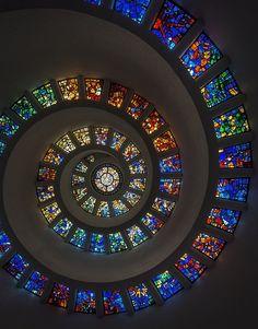 Vitrail, Spirale, Fenêtre, Design, Patron