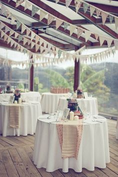 Bunting...it's not just for cake's anymore ;)  #diy #weddings # bunting