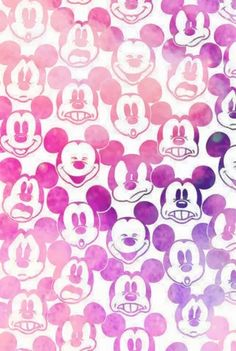Mickey mouse wallpaper pink cute faces