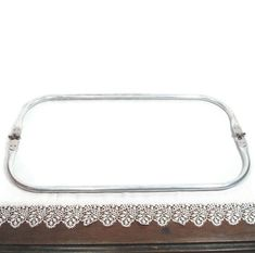 16 x 4.5 Inch Carpet BagTubular Spring Loaded Aluminum Rectangular Purse Frame FREE U.S. Shipping
