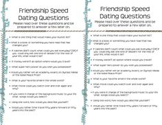 Speed dating registration forms