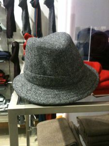 c8a82d795f5 An Olney made in England tweed hat in Heelas (John Lewis) Reading 21.12.