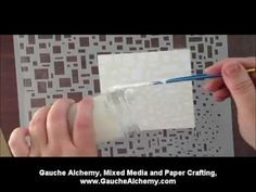Texture paste recipe - 1 part paint, 1 part talc (baby powder), 1/2 part glue, mix.