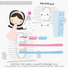 Vector Teethies & Charts Freebie | MissTiina.com {Blog}