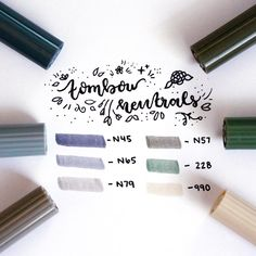 """693 Likes, 5 Comments - Jenny (@jennyjournals) on Instagram: """"Favorite neutral toned Tombow pens that I've been using lately in my bullet journal . . .…"""""""