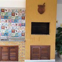 Churrasqueira decorada com o modelo Churras do Site Dona Cereja