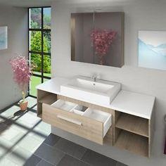 Waschtisch-mit-Waschbecken-Unterschrank-City-303-160cm-Eiche-hell