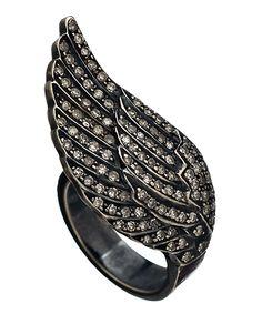 Socheec Angel Wing Pave Ring #maxandchloe