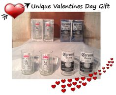 valentine's day beer glasses