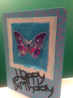 Modern butterfly birthday card Sold