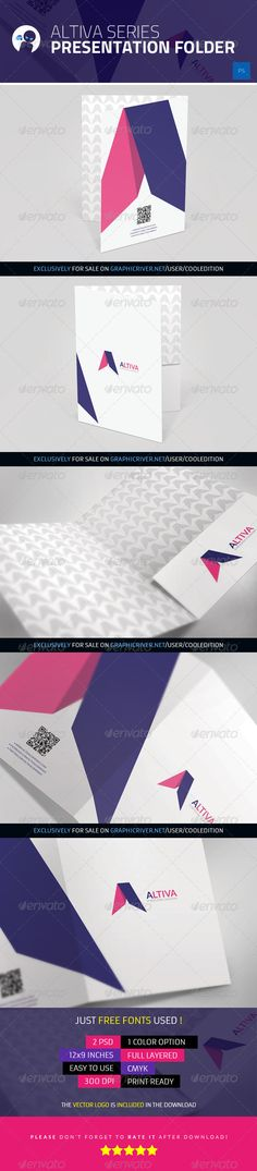 Buy Altiva Series - Presentation Folder by cooledition on GraphicRiver. Altiva Series – Presentation Folder Suitable for: Brand Identity Design, Design Agency, Prospectus, Brand Manual, Folder Design, Presentation Folder, Sales And Marketing, Business Management, Print Templates