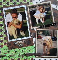 Pet dog scrapbook page - from Everyday Life, Album 16