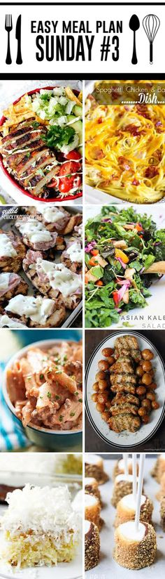 Easy Meal Plan Sunday #3 - 6 dinner and 2 dessert recipes from your favorite bloggers. We are here to make your dinner planning easier, quicker, and tastier! http://www.highheelsandgrills.com/easy-meal-plan-sunday-3/