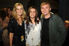 With wife and Martina McBride