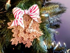 Tutorials | Urban Threads: Layered Lace Clockwork Ornament