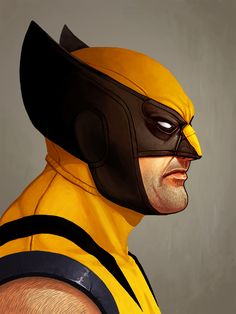 Wolverine Yellow and Blue Suit by Mike Mitchell