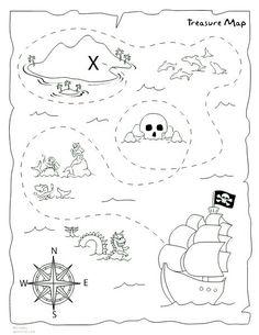 DIY treasure map printable