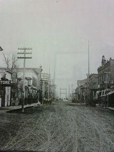 Years ago! Alpena MI...Second St. looking NE towards Second St. Bridge.