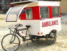 Solar-Powered Trike Ambulance In Bangladesh Emergency Medical Services, Emergency Response, Emergency Care, Classic Road Bike, Fire Equipment, Cargo Bike, Emergency Vehicles, Red Cross, Police Cars